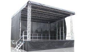scene podium couverte toit maroc
