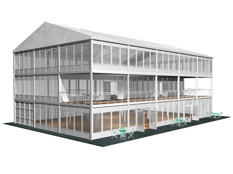 structure multi étages et balcon terrasse